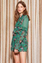 THE FIFTH - Keystone Playsuit, Green Floral - Makers On Mount