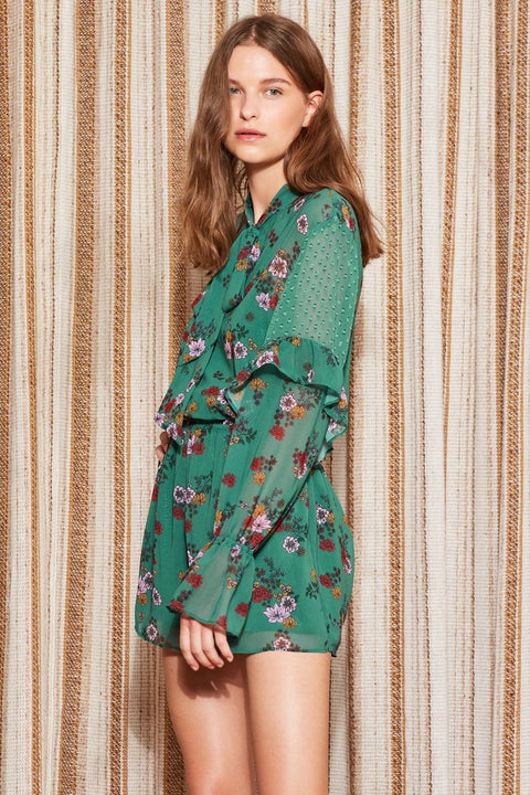 THE FIFTH - Keystone Playsuit, Green Floral