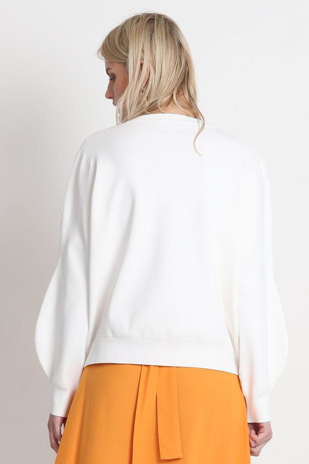 VÉSTIRE - Excuse Me Sweater, White