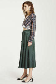 VÉSTIRE - Beautiful Disaster Skirt, Pine Green