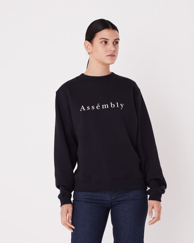 ASSEMBLY LABEL - Accent Fleece, True Navy