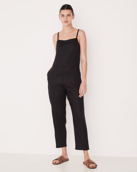 ASSEMBLY LABEL - Pinafore Jumpsuit, Black