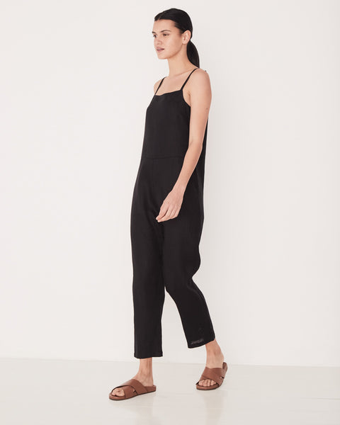 ASSEMBLY LABEL - Pinafore Jumpsuit, Black - Makers On Mount