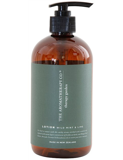THE AROMATHERAPY CO - Therapy Garden, Hand & Body Lotion, Wild Mint & Lime - Makers On Mount