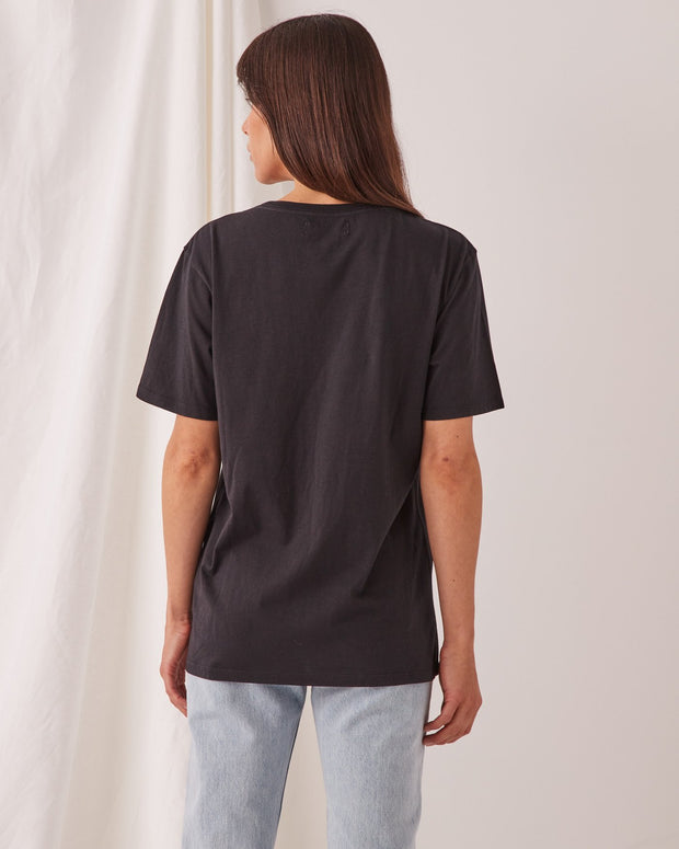ASSEMBLY LABEL - Logo Cotton Crew Tee, Black