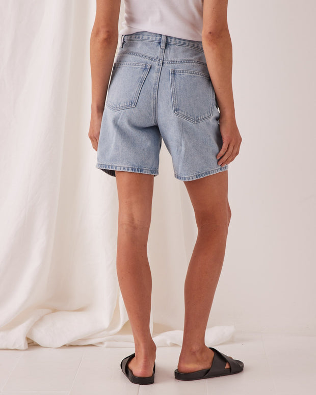 ASSEMBLY LABEL - Rowley Denim Short, Pacific Blue