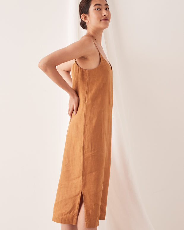 ASSEMBLY LABEL - Linen Slip Dress, Russet