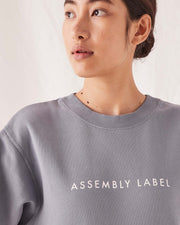 ASSEMBLY LABEL - Logo Fleece, Steel Blue