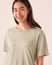ASSEMBLY LABEL - Logo Cotton Crew Tee, Soft Green