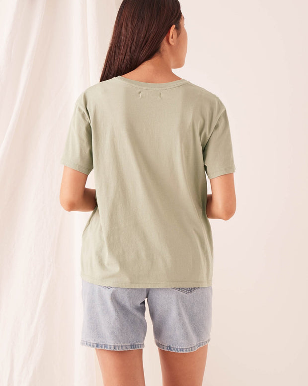 ASSEMBLY LABEL - Crew Tee, Soft Green