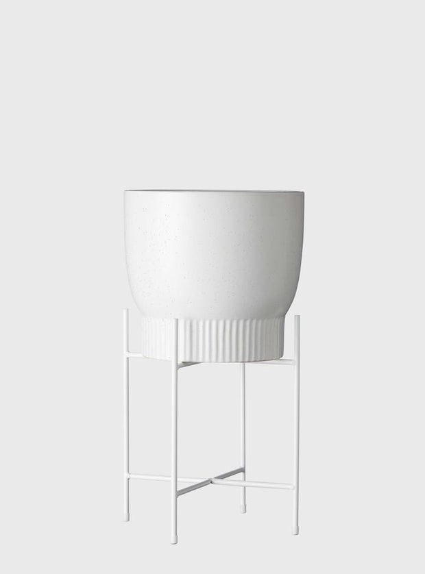 EVERGREEN COLLECTIVE - Iris Pot Stand Short, White - Makers On Mount