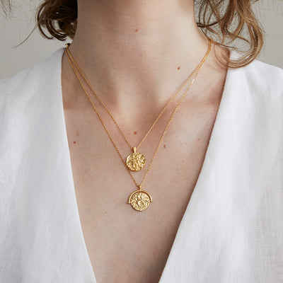 JOLIE & DEEN - Tobie Coin Necklace, Gold