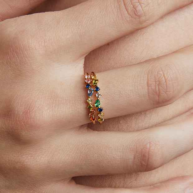 JOLIE & DEEN - Mabel Crystal Ring, Gold