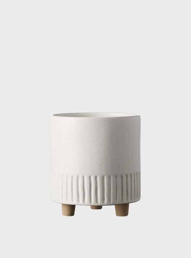 EVERGREEN COLLECTIVE - Birch Pot Medium, Chalk
