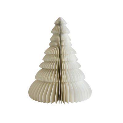 NORDIC ROOMS - Paper Standing Tree Decoration, Off White Glitter