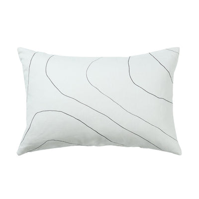 MILK & SUGAR - White Ripple Cushion, 40x60cm