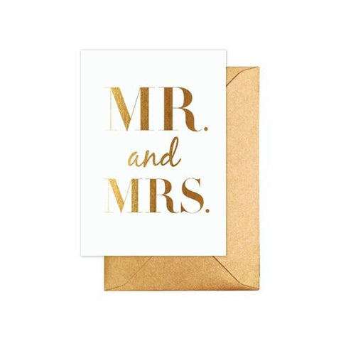 ELM PAPER - Mr & Mrs Classic Gold, Card - Makers On Mount