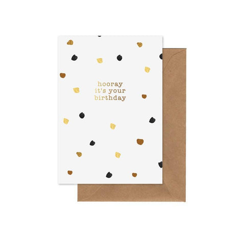 ELM PAPER - Hooray It's Your Birthday, Card