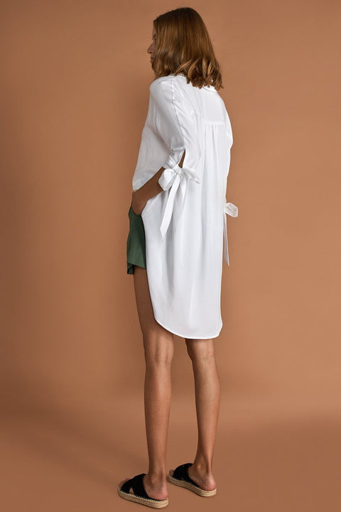 SANCIA - The Ophelie Boyfriend Shirt, White - Makers On Mount