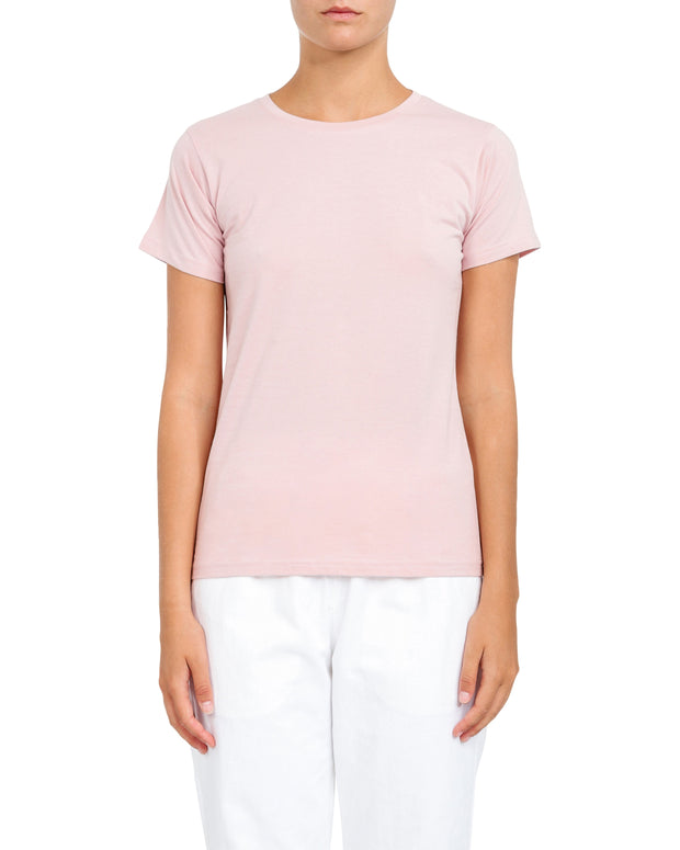 NUDE LUCY - Harper Basic Crew Neck Tee, Nude Pink - Makers On Mount