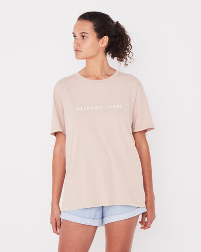 ASSEMBLY LABEL - Logo Cotton Crew Tee, Dusk