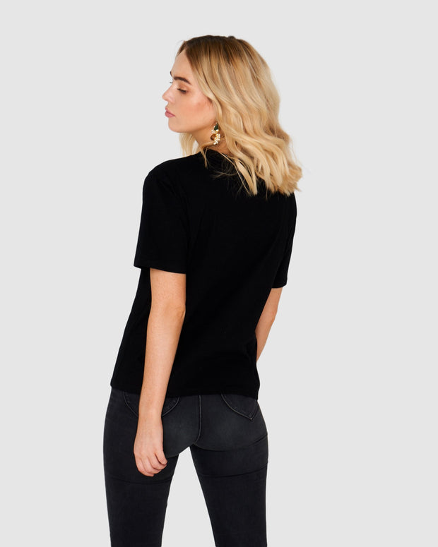 APÉRO - J'adore Beaded Tee, Black