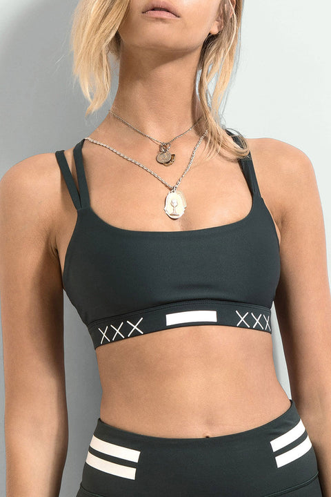 FIRST BASE - Arena Compression Sports Bra, Forest