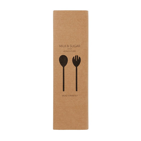 MILK & SUGAR - Asta 3pc Salad Servers, Silver
