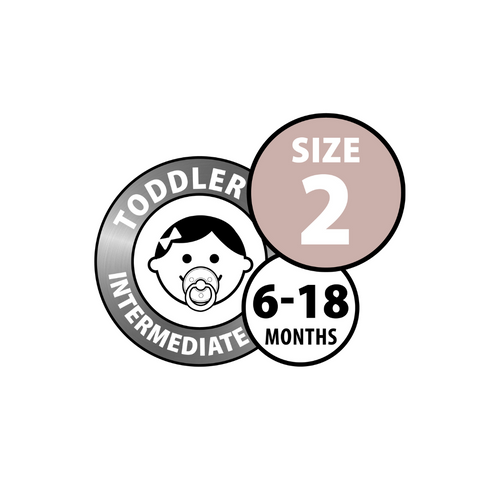 BIBS - Dummies, Double Pack, Size 2
