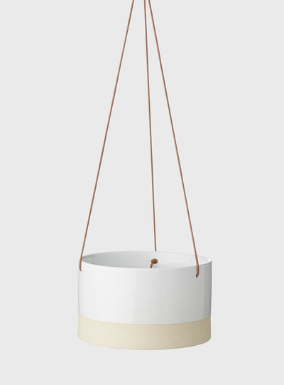 EVERGREEN COLLECTIVE - Billie Hanging Pot Large, White