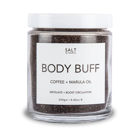 SALT BY HENDRIX - Coffee + Marula Oil, Body Buff - Makers On Mount