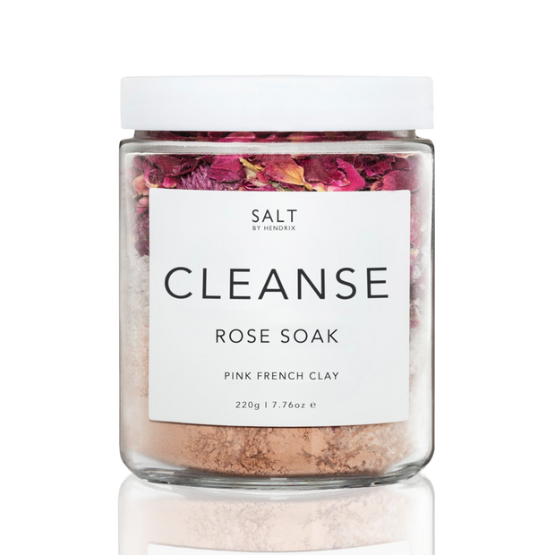 SALT BY HENDRIX - Pink French Clay, Rose Cleansing Soak