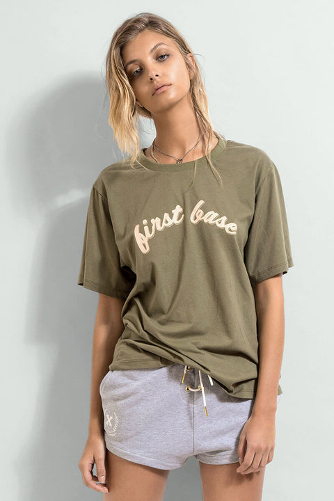 FIRST BASE - Club Tee, Khaki