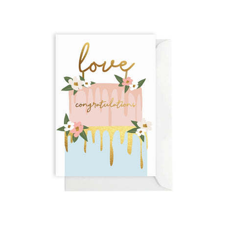 ELM PAPER - Congratulations Cake, Card - Makers On Mount
