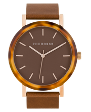 THE HORSE - The Resin Watch, Caramel Treacle/Caramel Dial/Tan Band - Makers On Mount