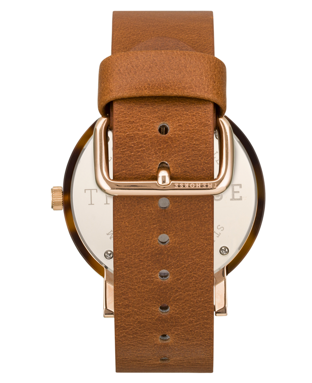 THE HORSE - The Resin Watch, Caramel Treacle/White Dial/Tan Band - Makers On Mount