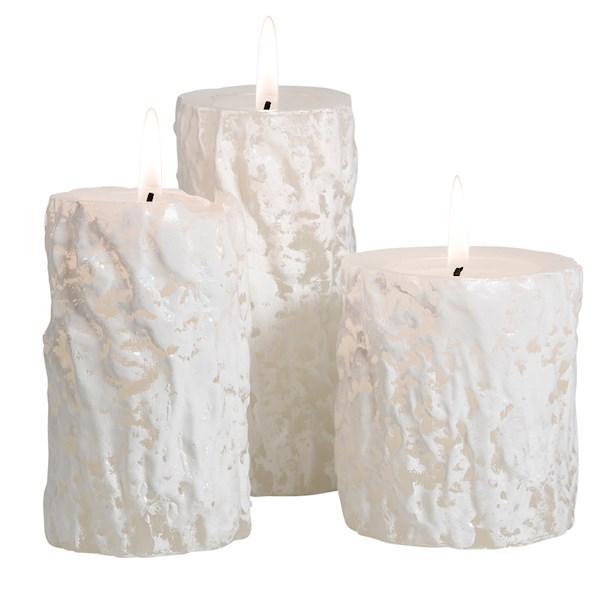 THE AROMATHERAPY CO - Xmas Pine Log, Scented Pillar Candle Set - Makers On Mount