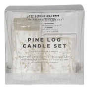 THE AROMATHERAPY CO - Xmas Pine Log, Scented Pillar Candle Set