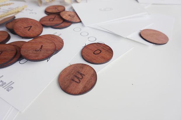 SPARE TIME CO - Timber Alphabet Tiles