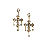 JOLIE & DEEN - Estelle Cross Earrings, Gold