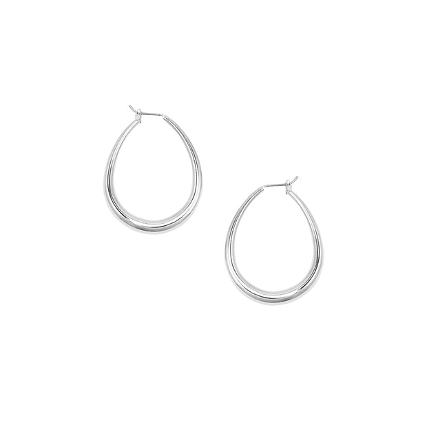 JOLIE & DEEN - Lauren Hoop Earrings, Silver