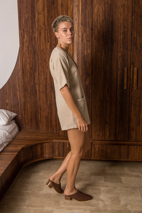 ARTHUR - Lucia Playsuit, Natural