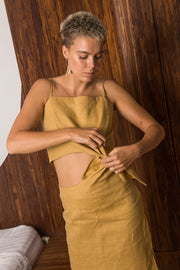 ARTHUR - Knotted Skirt, Ochre - Makers On Mount