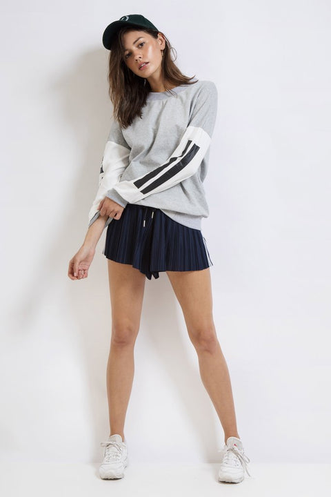 FIRST BASE - Fight Club Oversized Sweater, Grey Marle