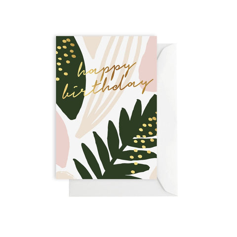 ELM PAPER - Happy Birthday Leaf, Card