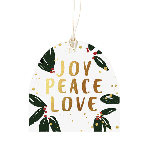 ELM PAPER - Joy, Peace & Love, Single Tag
