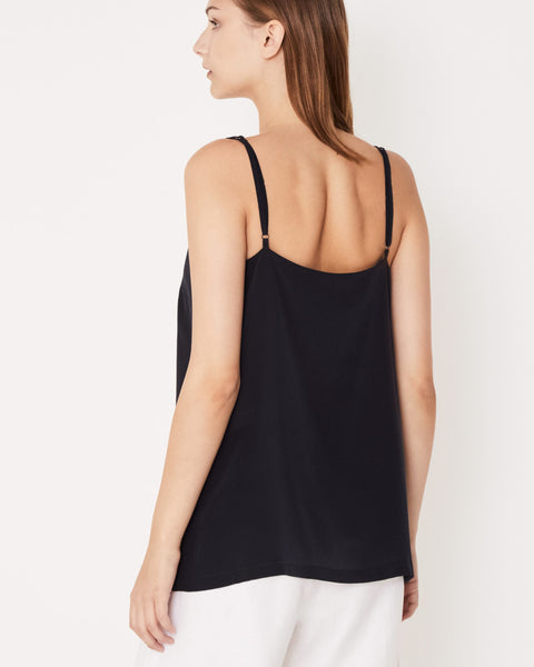 ASSEMBLY LABEL - Silk Deep V Cami, Worn Navy - Makers On Mount