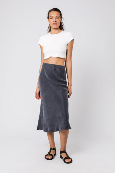 NUDE LUCY - Nude Classic Skirt, Washed Navy