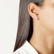 JOLIE & DEEN - Circle Earrings, Silver