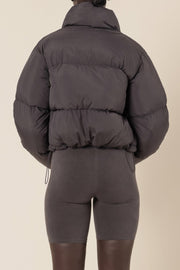 NUDE LUCY - Topher Puffer Jacket, Coal
